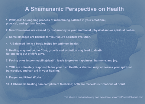 A Shamanic Perspective on Health and Healing.